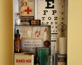 The Nurses Station - Found Object Assemblage