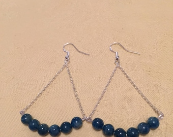 Apatite blue and Silver earrings