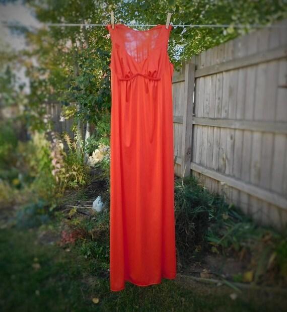 Vintage Vanity Fair Long Nightgown lingerie sleepwear gown