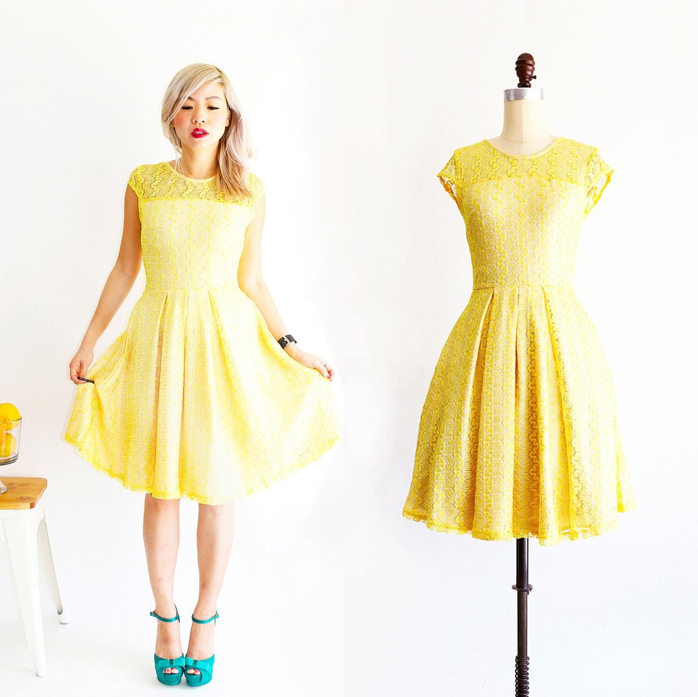 Gossamer lemon bright canary yellow lace bridesmaid dress zoom ombrellifo Images