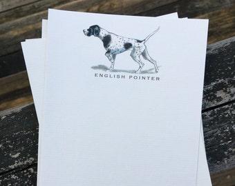English Pointer Dog Note Card Set