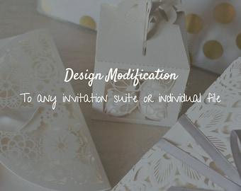 Design Modification to any Wedding Invitation Set