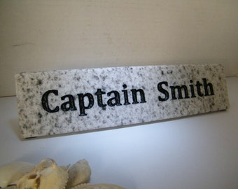 Desk Nameplate/White Granite Nameplate/  Granite Nameplate/ Stone Nameplate