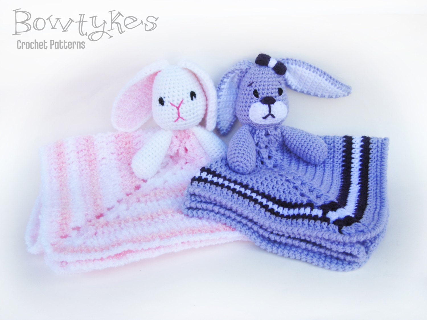 Baby Bunny Lovey CROCHET PATTERN instant download - blankey, blankie ...