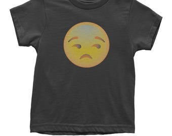 Color Emoticon - Sad Face Smile Youth T-shirt