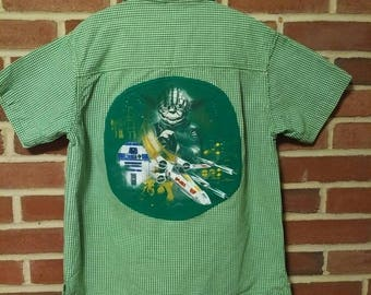 Upcycled Star Wars Dress Shirt, Boy's Old Navy size 8