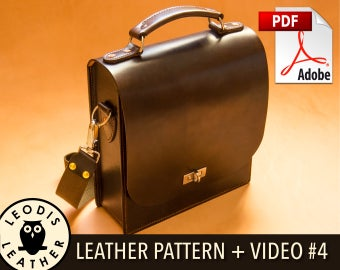 Build Along Leather Pattern 4: Messenger Bag