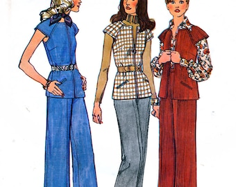 Simplicity 6513 Sewing Pattern for Misses' Unlined Vest and Pants - Uncut - Size 10 - Bust 32.5