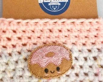 Baby Pink Crochet Coffee Cup Cozy