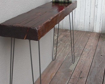 Modern Minimalist Entry Hall Foyer Table - Display Table - Jewlery Table - Console Table - Wood Table