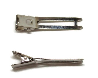 200 Double Prong Alligator Hair Clips 48mm (1 7/8 inch)