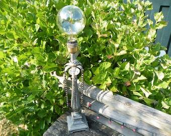 column gothic style lamp