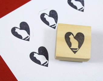 cat rubber stamp / cat lover gifts / cat birthday gifts / cat lady gifts