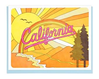 California Coast Letterpress Card