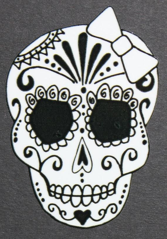 Lively image regarding sugar skull template printable
