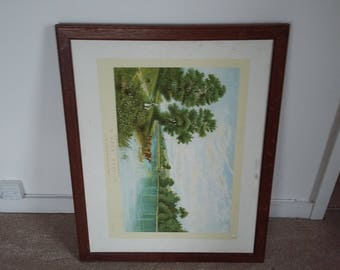 Large Vintage Oak Frame.