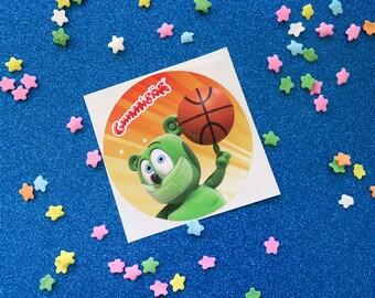 Gummibär (The Gummy Bear) Basketball Sticker
