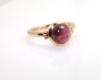 Rhodolite Garnet ring .