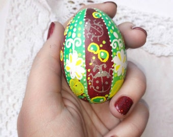 easter egg, chicken eggs,  ladybird, Russian pysanka, hand decorated, pysanky, unique gift, handmade, easter eggs Hand painted Easter eggs