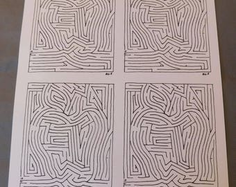 Digital Version Apple Maze Sheet (Amazadoodle)