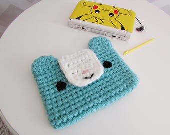 3DS XL case - PS VITA case - nintendo 3ds xl sleeve - 3ds xl cozy - kawaii 3ds case - amigurumi bear - custom made in any color - vegan