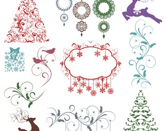Christmas Photoshop Brushes Christmas Silhouettes Photoshop Brushes - Commercial and Personal