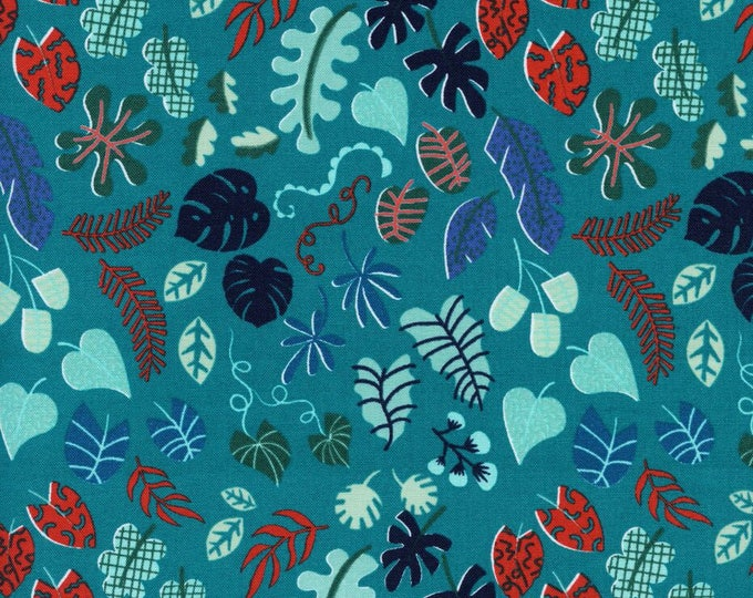 Lagoon by Cotton + Steel - Leafy Wonder Teal - Cotton Woven Fabric