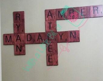 Decorative Wooden Scrabble Blocks