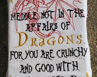 Do not meddle with Dragons Wall Art