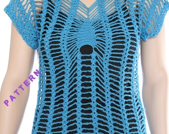 Top summer pattern Crochet halter tops Women's crochet top Halter top crochet pattern Lacy halter top