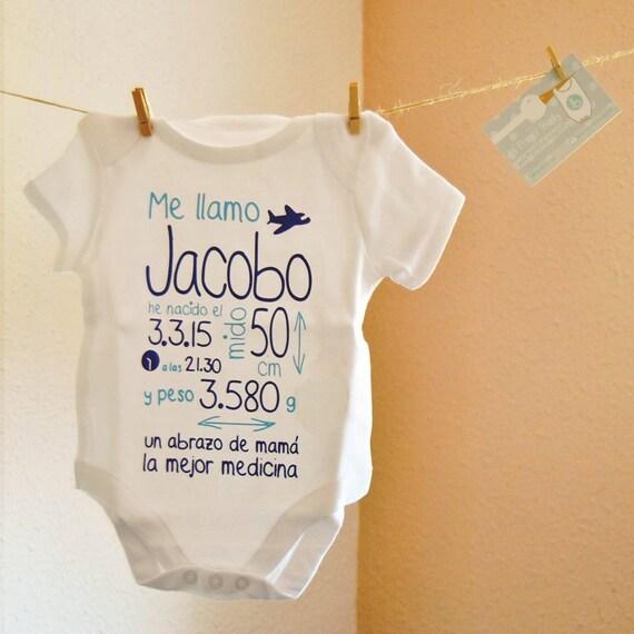 Body bebe mi primer body body personalizado regalo al - Que regalar en un bautizo al bebe ...