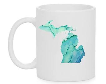 Watercolor Michigan Mug