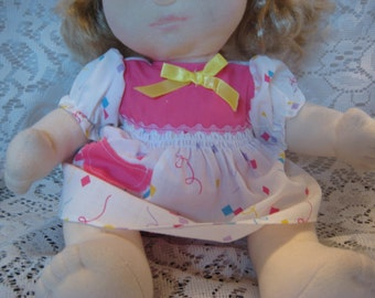 """Two Piece Dress that fits My Child Doll and other 14"""" Baby Dolls"""
