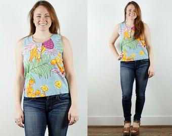1980s Fruit Print Shirt