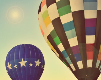 Hot Air Balloon Photograph - fine art print - 8x10 - hot air balloons - children's wall art - home decor - vintage style