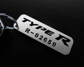 Honda Civic Integra Type R V FK8, IV FK2, III FD2 FN2, II EP3 Nsx Accord Acura Mugen custom keyring keychain with Your serial number
