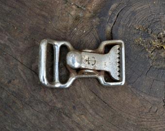 Vintage belt buckle, old belt buckle, anchor belt buckle, weird belt buckle, navy belt buckle, military belt bucle, old silver belt buckle