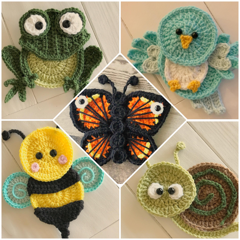 Crochet Pattern - INSTANT PDF DOWNLOAD - Crochet Garden Friends ...