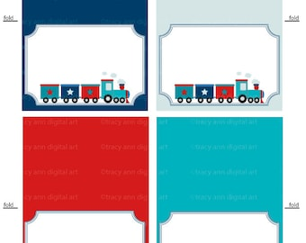 Train Tent Cards Printable Labels or Buffet Cards - Instant download