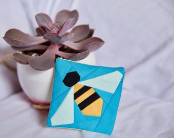 Bumblebee Fabric Fridge Magnet