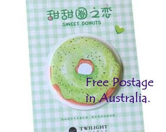Sweet Donuts 'GREEN' Post-It Sticky Notes