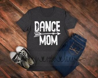 Distressed Dance Mom Tshirt, Softball Mom Shirt, Love Softball Tshirt, Womens Sports shirt, Softball  Shirt, Custom Softball