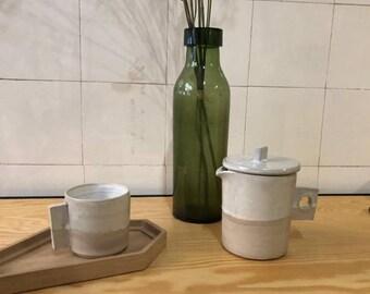 Tea or milk jug with cup/set