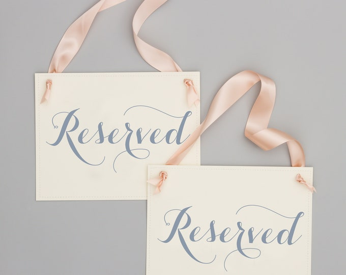 Reserved Chair Signs