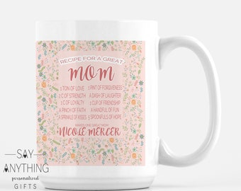 Personalized Gift-Customized Gift–Mother Gift-Mom Gift–Mother's Day Gift–Gift For Mom-Gift For Wife-Gift For Her- Mug - Recipe Perfect Mom