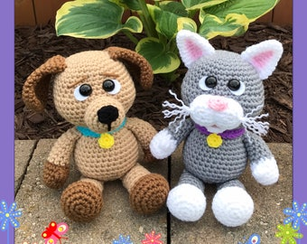 Little Chubbies Puppy and Kitty Amigurumi (PDF file only not the finished doll)