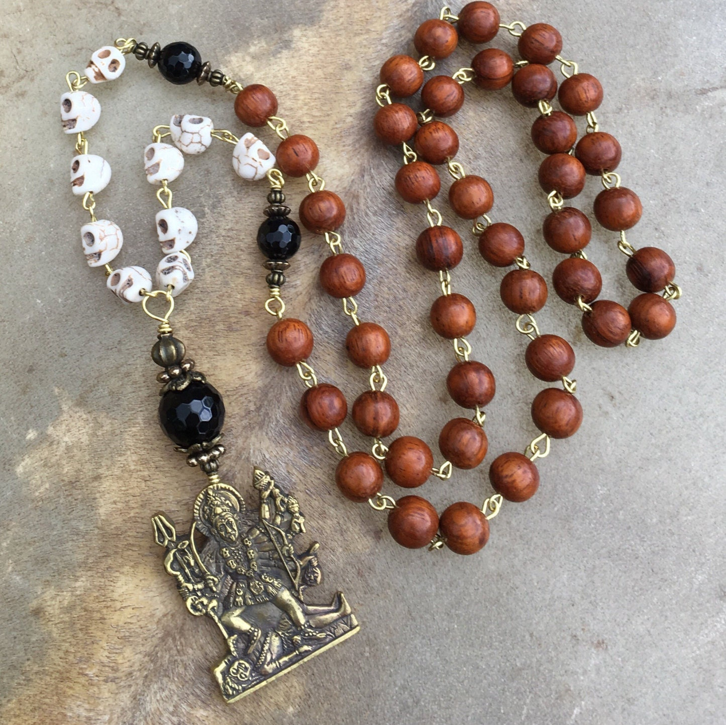 prayer products antique necklace gold clay tibetan inlay vintage ethnic sold religious hematite img old copper matte box ghau