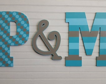 Initials for Wall - Jumbo Wall Letters - Large Wall Initials - Letter Wall Decor