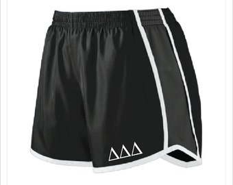 Delta Delta Delta - Tri Delt - Sorority Athletic/Running Shorts with Greek Letters