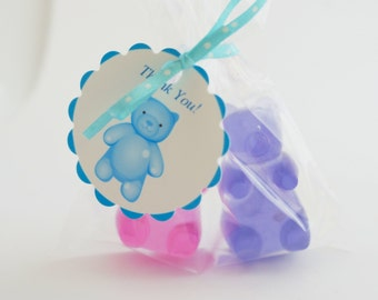 10 GUMMY BEAR Soap {Favors}- Bear Party- Honey Bear- Party Favors- Birthday-Baby Shower Favor